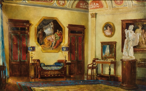 artwork by italian school 19th century interieur made of oil on canvas