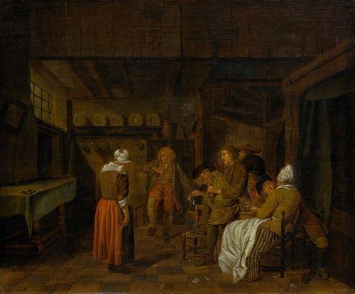 Jan josef horemans the elder a tavern scene oil for Horemans interieur