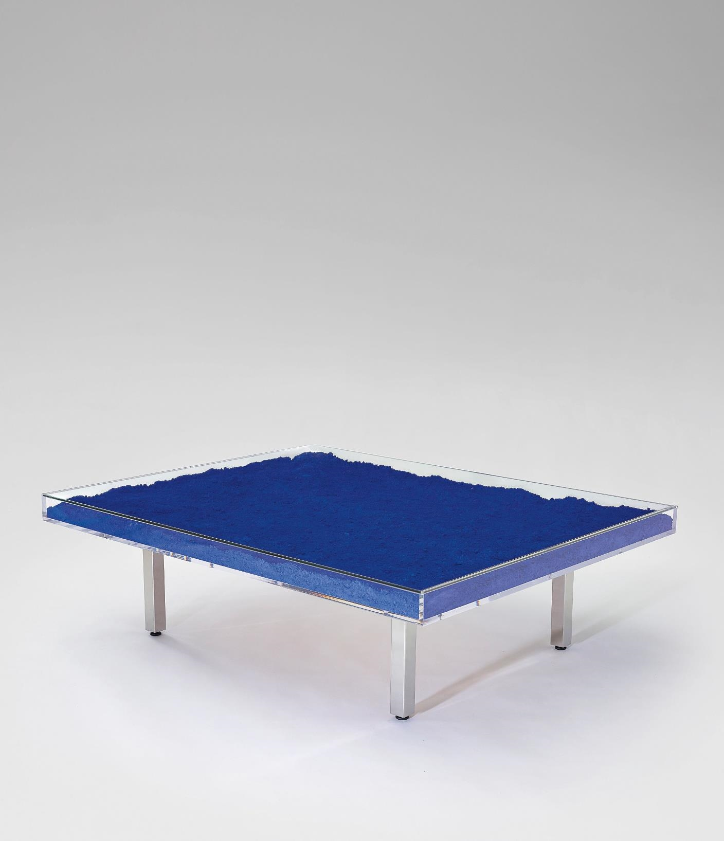 Yves Klein Table Bleue Ikb Pigment In Glass