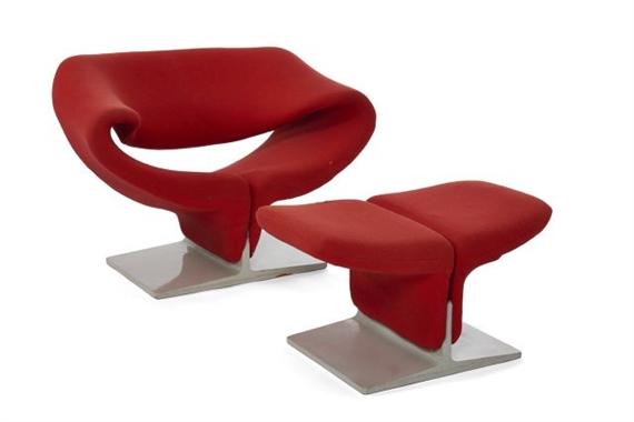 pierre paulin 2 works fauteuil mod f582 dit. Black Bedroom Furniture Sets. Home Design Ideas