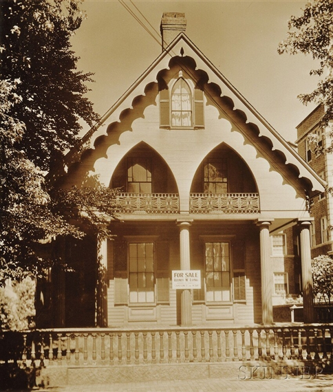 Evans walker wooden gothic revival house cambridge for Gothic revival homes for sale