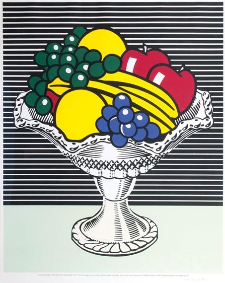 Roy Lichtenstein Still Life With Crystal Bowl