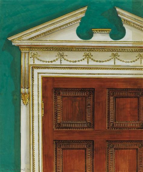 Merveilleux Artwork By Alexandre Serebriakoff, Lu0027ENCADREMENT DE LA PORTE DU CABINET DE  TRAVAIL,