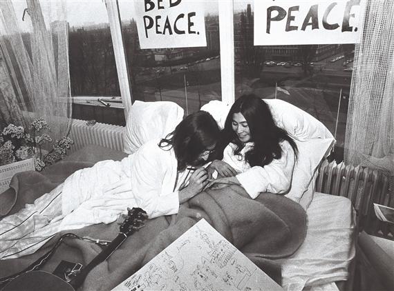 Artwork By Tony Grylla John Lennon Yoko Ono Made Of Vintage Gelatin Silver