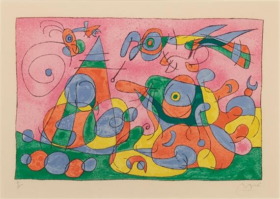Joan mir hai ku m 482 498 color lithographs for Joan miro interieur hollandais