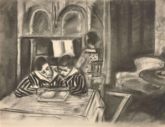 matisse henri scene d 39 interieur 1933 mutualart. Black Bedroom Furniture Sets. Home Design Ideas