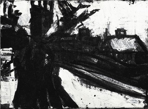 John Virtue Landscape No 22 1985 Ink On Paper