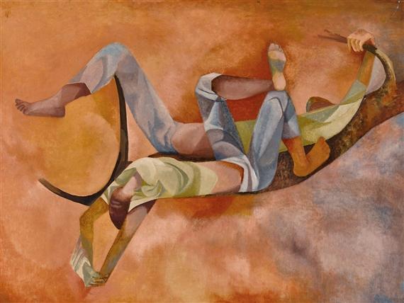 Dorothy Braund Boys Dreaming 1971 Oil On