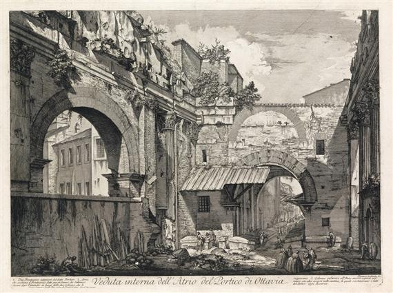 Artworks of giovanni battista piranesi italian 1720 1778 for Portico e design del ponte