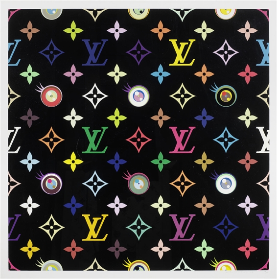 Murakami Takashi Louis Vuitton Eye Love Superflat Black
