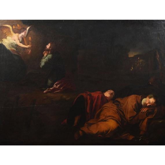 Spanish School 17th Century Jesus Im Garten Gethsemane Mutualart