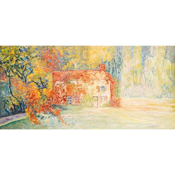 Victor charreton maison dans un jardin fleuri for Jardin fleuri maison