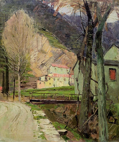 Artwork by Carl Moll, Motif from Italy - Rapallo, Made of oil on canvas