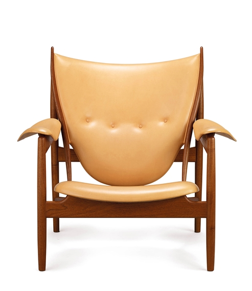 Artwork By Finn Juhl, Chieftain Chair, Made Of Teak, Natural Leather