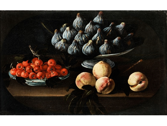 Melendez Luis | Still Life with Figs in Serving Bowl and