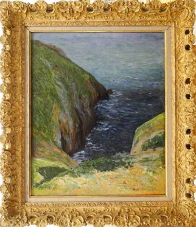 Artwork by Maxime Maufra, La Falaise, Made of oil on canvas