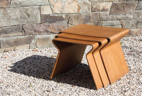 3 Works: Set Of Three Nesting Tables. Designed By Grete Jalk