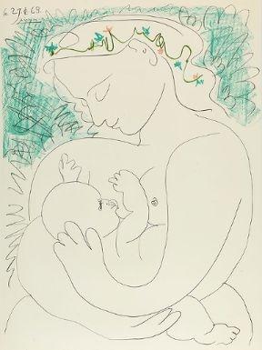 Picasso Pablo | GRANDE MATERNITE (1963) | MutualArt