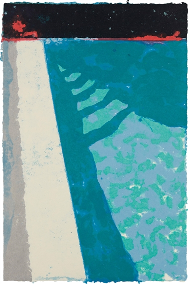Hockney david steps with shadow f paper pool 2 1978 - David hockney swimming pool paintings ...
