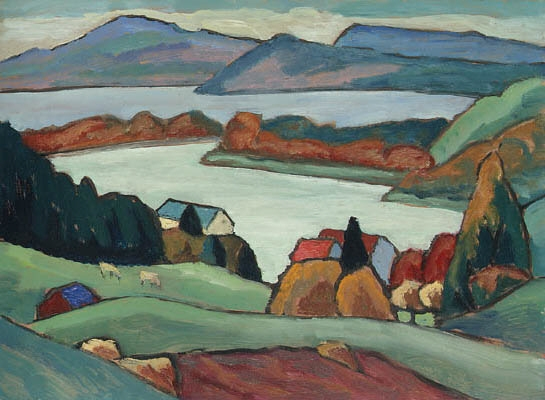 Artwork by Gabriele Münter, Staffelsee, Made of oil on board