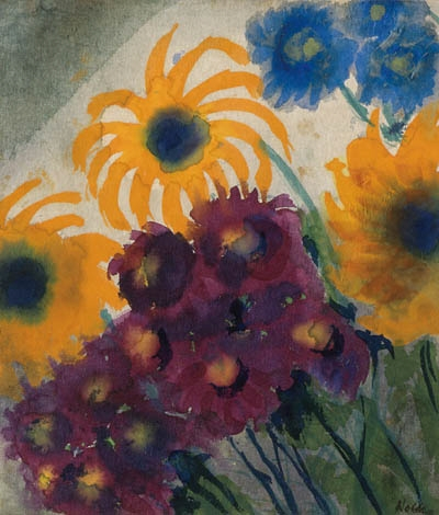 emil nolde sommerblumen circa 1930 watercolour. Black Bedroom Furniture Sets. Home Design Ideas