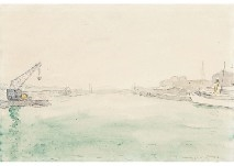 Artwork By Albert Marquet Vue Du Fleuve A Lubeck Made Of Watercolor On Paper