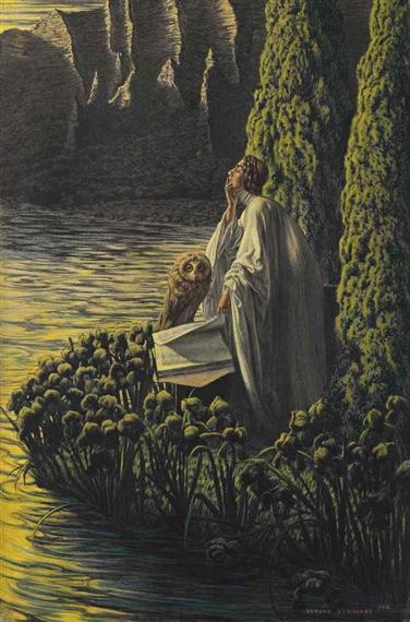 Artworks of carlos schwabe swiss 1866 1927 for Au jardin de l infante