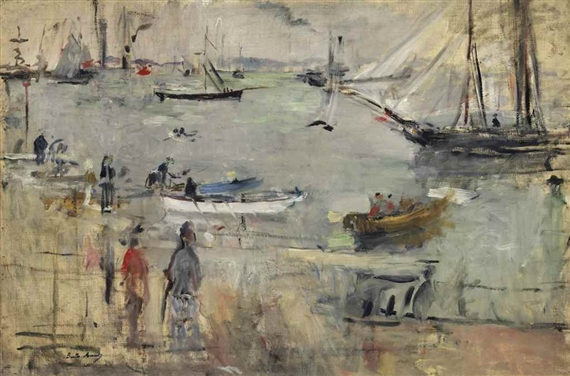 Artworks of berthe morisot french 1841 1895 for Devant le miroir manet