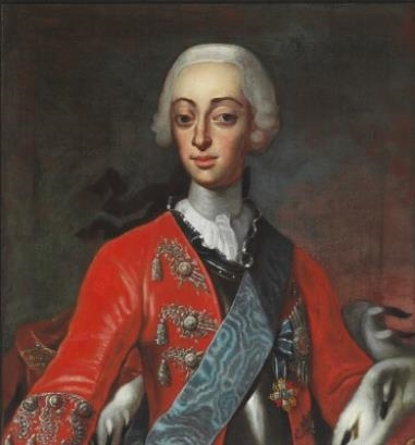 Møller Andreas Portrait Of King Frederik V 17231766 In Red