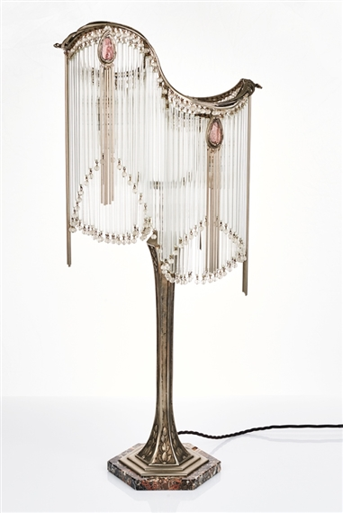 Guimard hector art nouveau style table lamp mutualart after hector guimard aloadofball Image collections