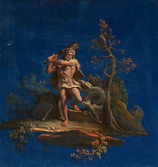 Italian School 18th Century Hercules And The