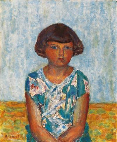 Artwork by Pierre Bonnard, Portrait d'une jeune fille, Made of oil on canvas