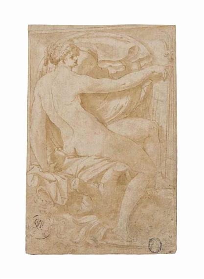 Femme Nue De Dos perino delvaga | femme nue assise, vue de dos (allégorie de la