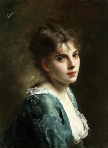 Gustave Jean Jacquet | French Portrait Of A Young Lady (1880 ...