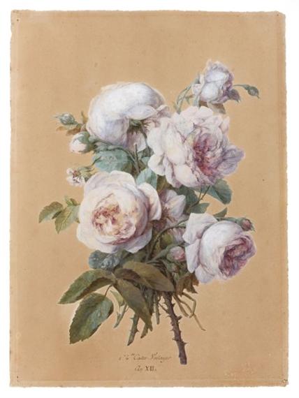 Anne vallayer coster bouquet de fleurs dans un for Un bouquet de roses