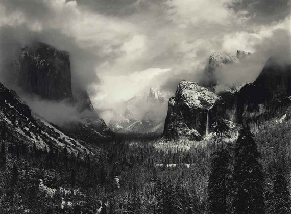 Adams, Ansel | 3386 Artworks | MutualArt Ansel Adams Clearing Winter Storm Analysis