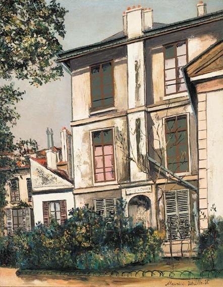 Maurice utrillo la maison de cuvier au jardin - De la maison au jardin ...