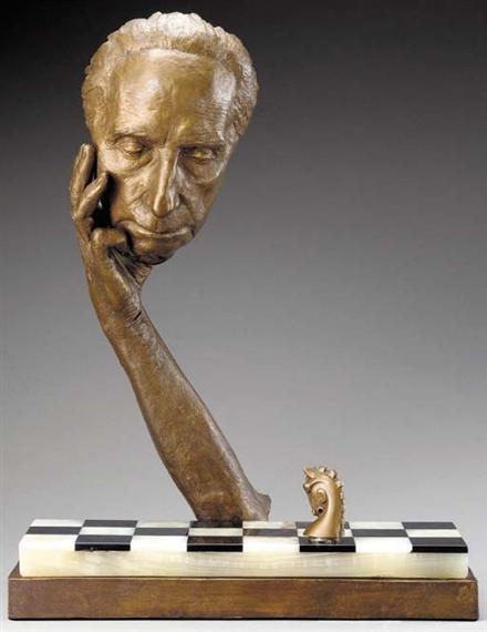 Artwork by Marcel Duchamp, Marcel Duchamp vif moulé, Made of bronze
