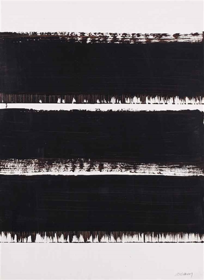 pierre soulages lithograph no 26 1968. Black Bedroom Furniture Sets. Home Design Ideas