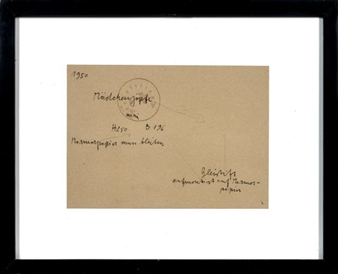 Joseph Beuys Sans Titre 1971 Ink And Stamp On