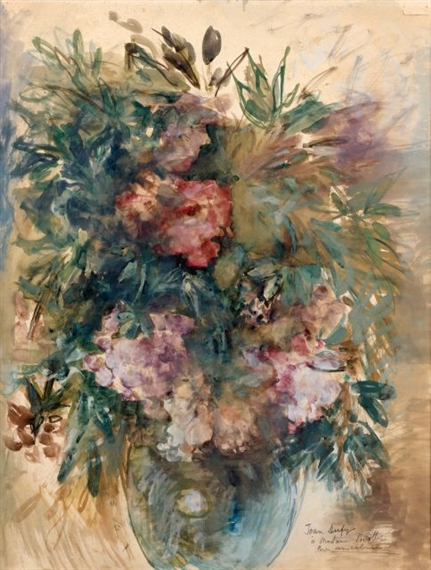 Dufy Jean Bouquet De Fleurs Au Vase Boule Bleu 1932 1933