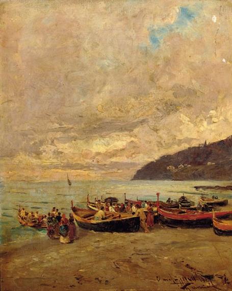 The beach 19th century