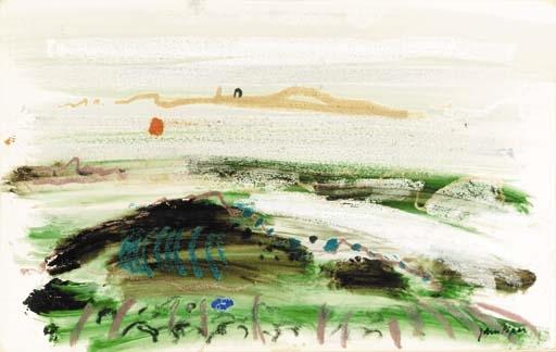 John piper landscape wax crayon watercolour for Wax landscape
