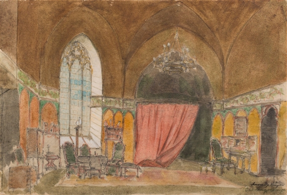 Alexandre nikola evitch benois d cor de th tre for Chambre 13 theatre