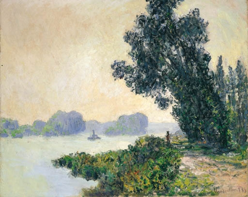 Artwork by Claude Monet, Le chemin de halage à Granval, Made of oil on canvas