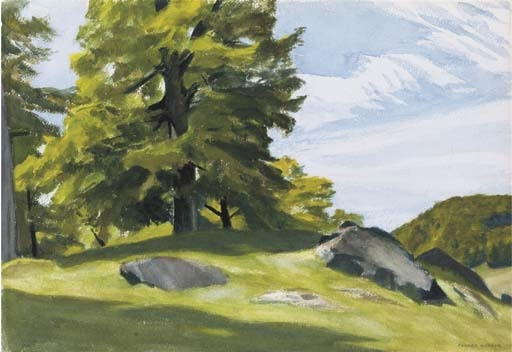 Artwork by Edward Hopper, Sugar Maple, Made of watercolor on paper