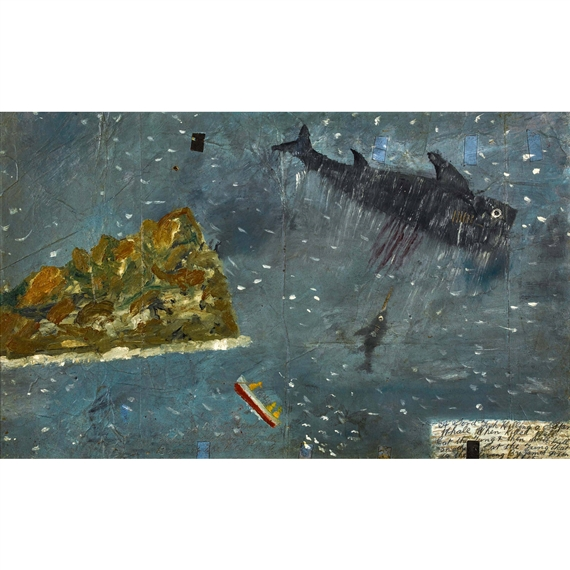 James Dixon Quot Whale Quot 1965 Oil On Paper On Hardbaord