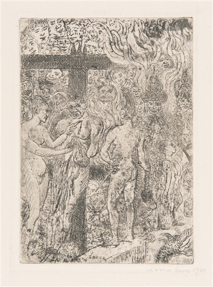 """an analysis of the scene in the assassination a painting by james ensor Himself, the sea, light, and death these obsessions and  ensor is often referred  to as """"the painter of masks,"""" but he made  drypoint, transforming the burlesque  original into a peaceful nocturnal scene once the  the theme of saint anthony  and his struggles would be one of the first ensor tackled."""