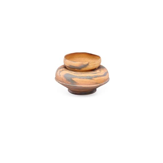 Ohr George Squat Marbleized Bisque Vase Mutualart