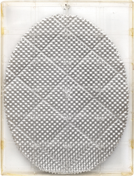 Heinz Mack Untitled 1967 Embossed Aluminum And